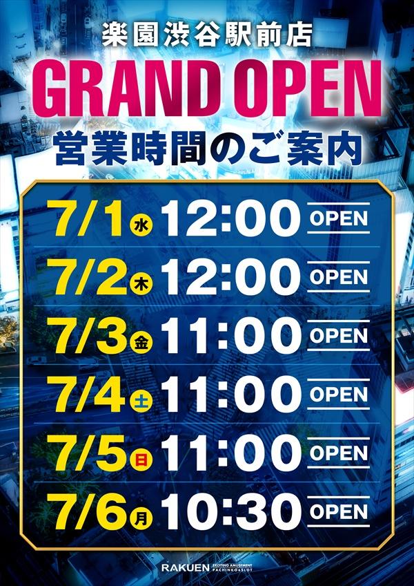 グランドオープンスケジュール