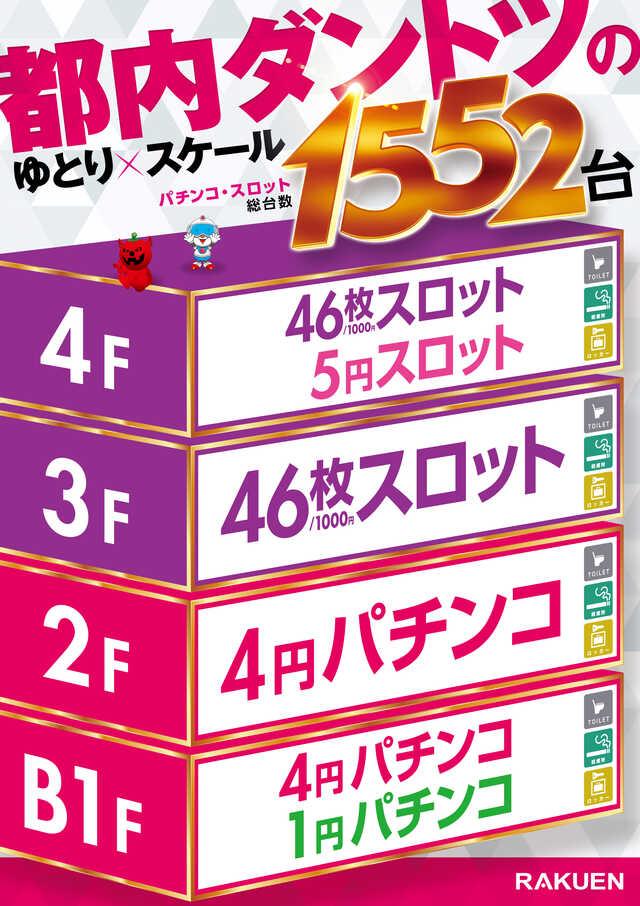 楽園立川店_グランドオープンフロアマップ